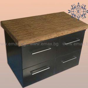 черен шкаф за баня пвц
