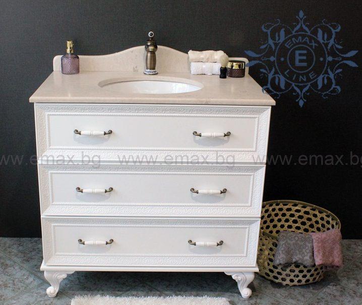 Ретро шкаф за баня с чекмеджета