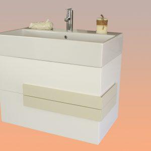 конзолен шкаф за баня с мивка