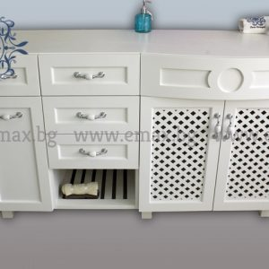 пвц шкаф за баня с кош за пране