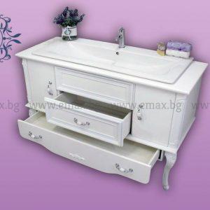 Класически шкаф за баня с мивка