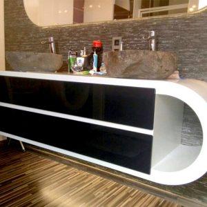 Шкаф мивка за баня - Луксозни мебели за баня