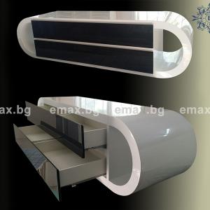 черен шкаф за баня от пвц
