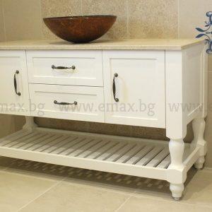 Ретро шкаф за баня с мивка купа Соренто