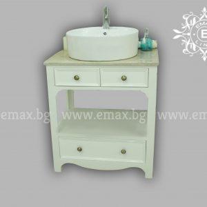 Рустик шкаф за баня с мивка купа