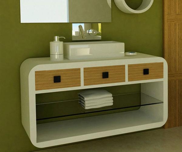 Модена –  водоустойчив ПВЦ модерен шкаф за баня 100 см