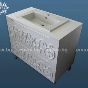 Модел Орнамент – ПВЦ шкаф за баня - Мебели за баня София Emax