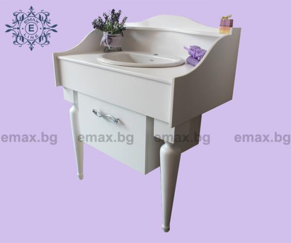 Пиано – водоустойчив ПВЦ луксозен шкаф за баня 100 см