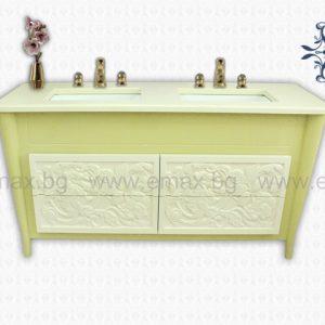 Модел Фиоре - водоустойчив ПВЦ шкаф за баня с две мивки 160 см