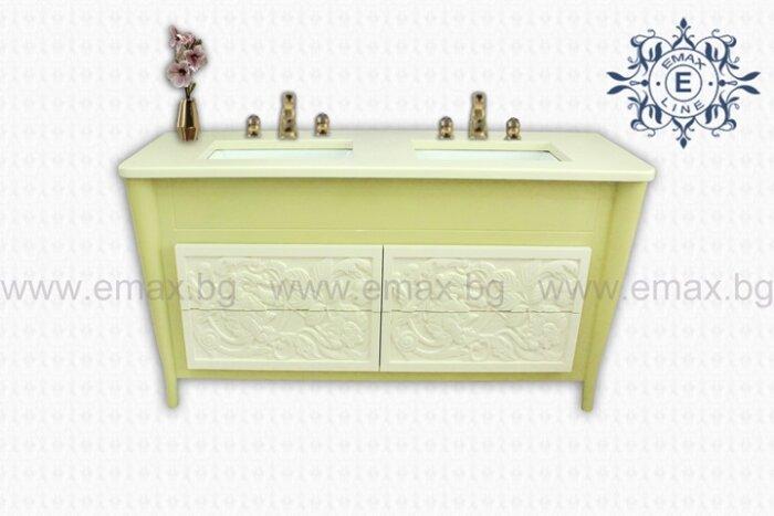 Шкаф за баня с две мивки - модел Фиоре