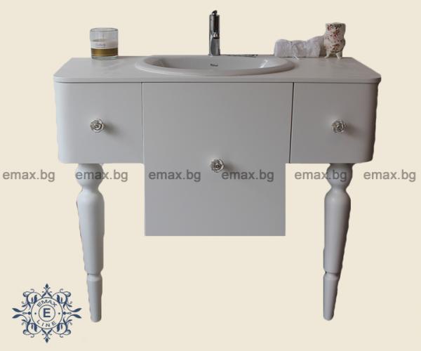 Театър – водоустойчив ПВЦ шкаф за баня с мивка 100 см