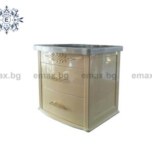 Ретро шкаф за баня с мивка и мраморен плот за окачване