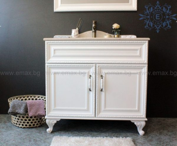 Ретро ПВЦ шкаф за баня с мивка