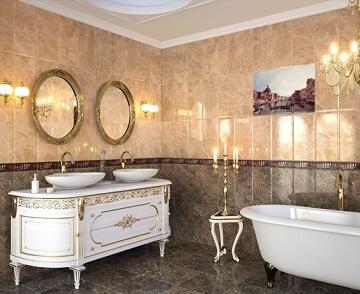 Ретро луксозен шкаф за баня
