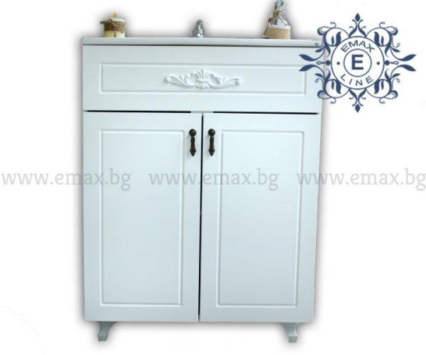 Романтик – водоустойчив ПВЦ ретро шкаф за баня 60 см