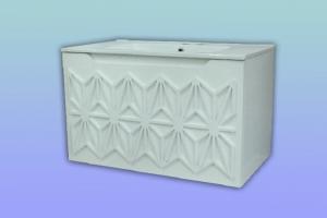 Конзолен шкаф за баня с орнаменти