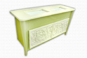 Зелен шкаф за баня
