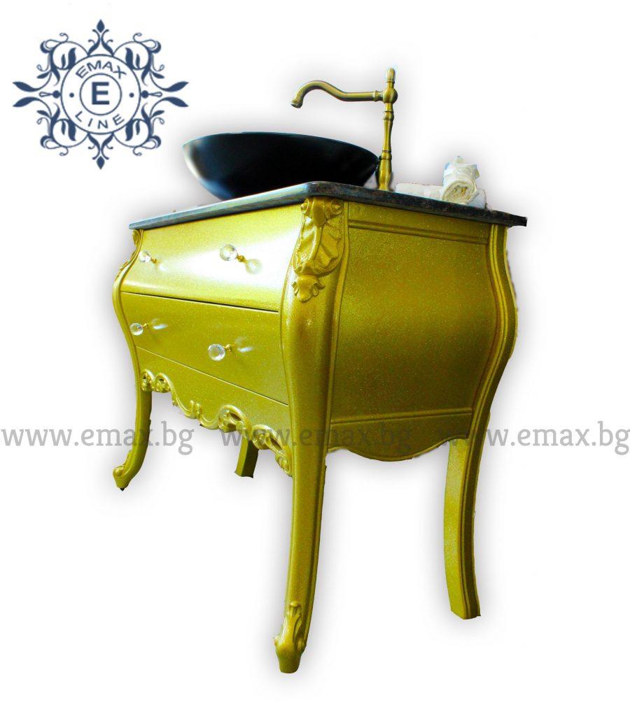 италиански шкаф за баня пвц с мивка мраморен плот