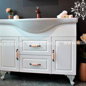Уют 2 – Голям ПВЦ шкаф за баня с мивка 107 см