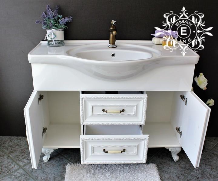 Пвц шкаф за баня с голяма мивка