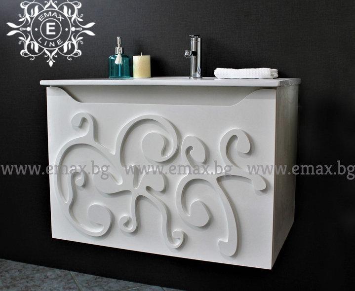 шкаф за баня орнамент пвц