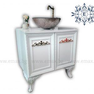 ретро шкаф за баня с мивка купа