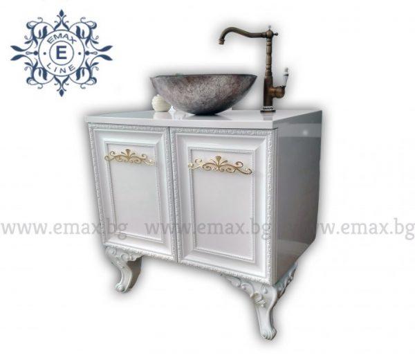 Класик - водоустойчив ПВЦ шкаф с мивка купа 80  см