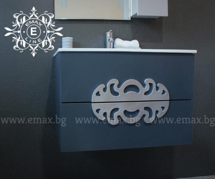 шкаф за баня сив