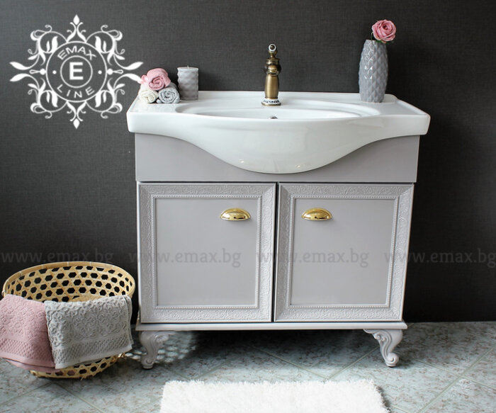 шкаф с мивка сив