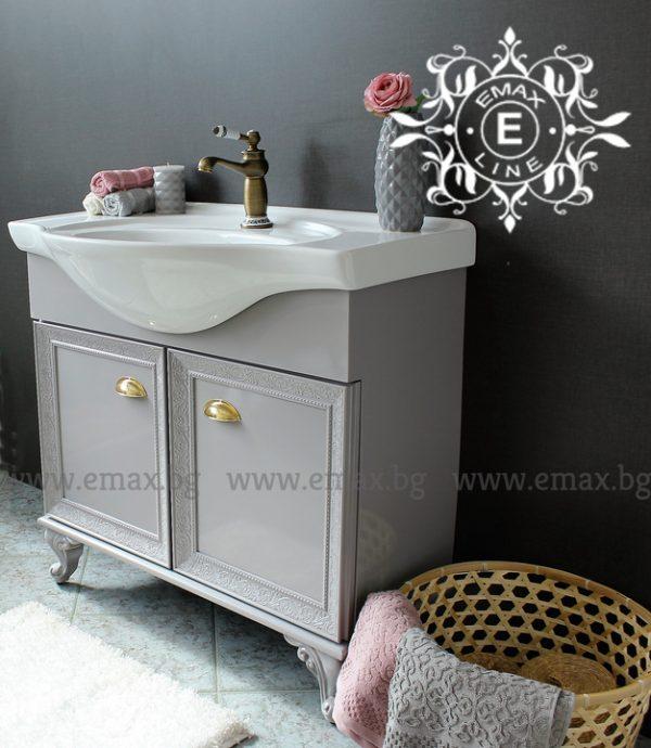 Хармония 2 Грей - водоустойчив шкаф за баня ПВЦ 87 см