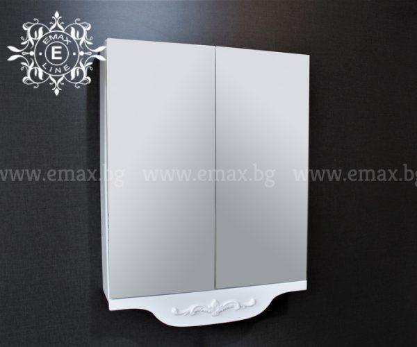Бианка - водоустойчив ПВЦ горен шкаф за баня 60 см