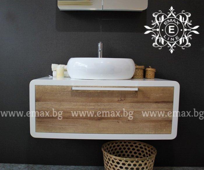 Шкаф за баня дървесен