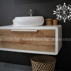 Овал 2 – водоустойчив модерен ПВЦ шкаф за баня 100 см