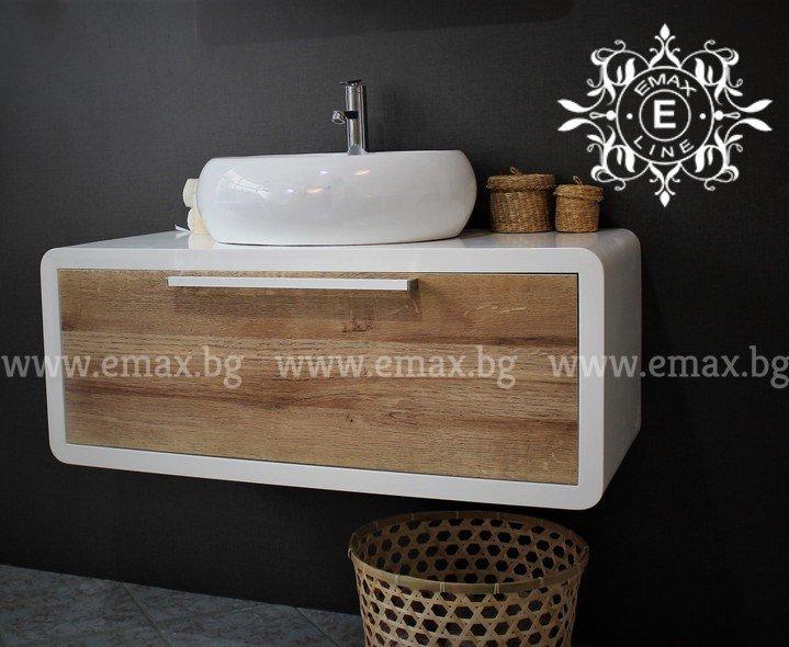 ПВЦ шкаф за баня Овал