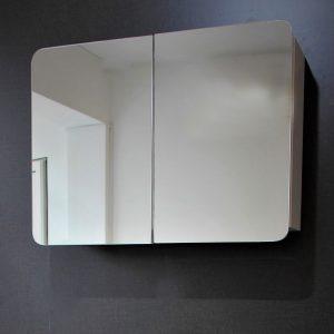 Овал - горен водоустойчив ПВЦ шкаф за баня 70 см