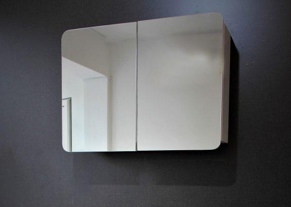 Комплект Овал 2 – водоустойчив ПВЦ шкаф с мивка 100 см и горен огледален шкаф