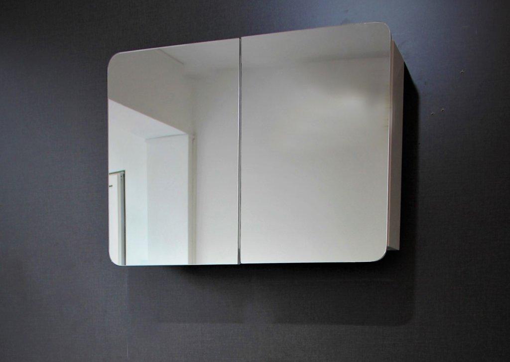 Горен ПВЦ шкаф за баня Овал