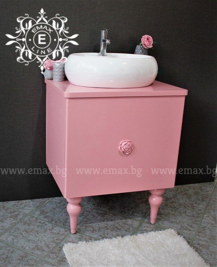 Шкаф за баня ПВЦ розов