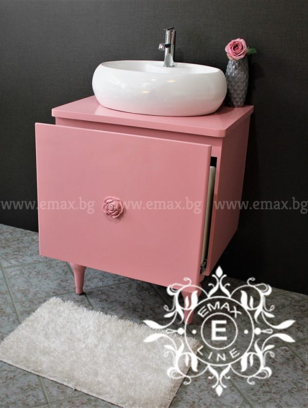 Романи 2 – водоустойчив ПВЦ шкаф с мивка за баня 65 см
