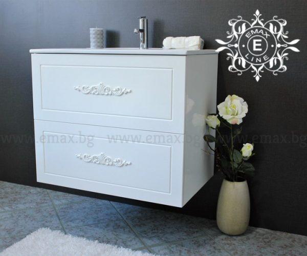 Романтик 2 – водоустойчив ПВЦ шкаф за баня с чекмеджета 60 см