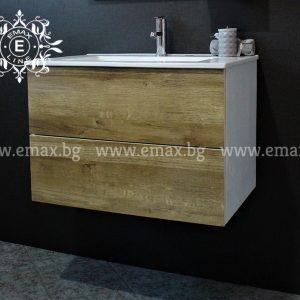 Форест – водоустойчив ПВЦ дървесен шкаф за баня с чекмеджета 60 см