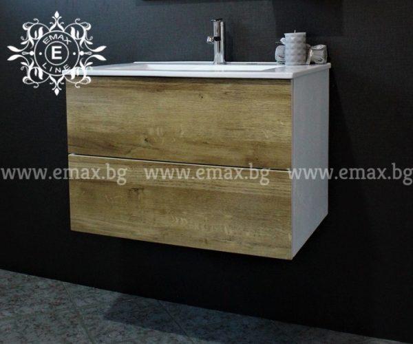 Комплект Форест – водоустойчив ПВЦ шкаф с мивка 70 см и горен шкаф с огледало