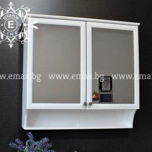 Дея - водоустойчив  ПВЦ горен шкаф за баня 76 см
