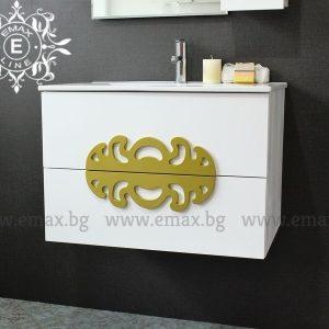 Медальон бял – водоустойчив ПВЦ шкаф с мивка 70 см