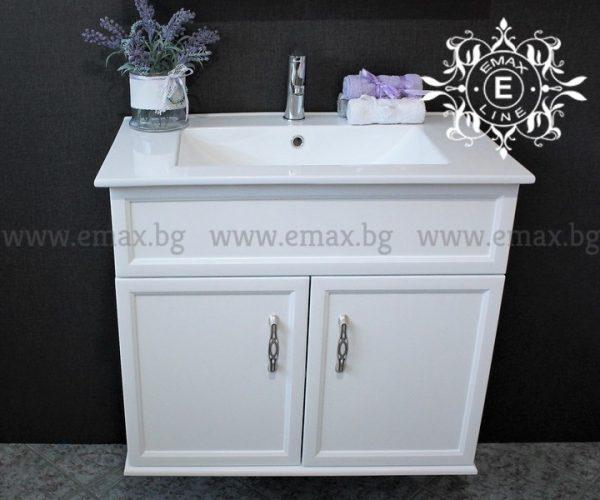 Дея - водоустойчив ПВЦ шкаф за баня с мивка 76 см