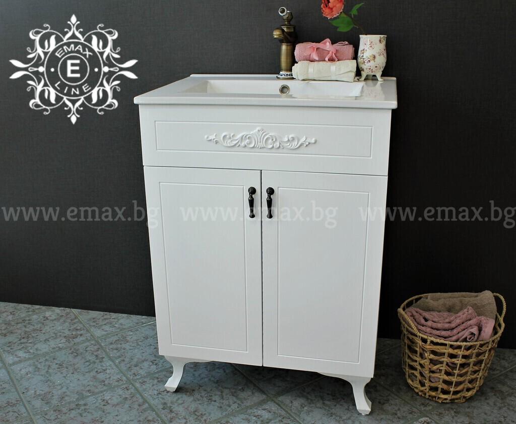 Ретро шкаф за баня с мивка Романтик