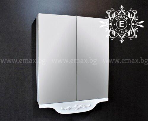 горен шкаф за баня с огледало