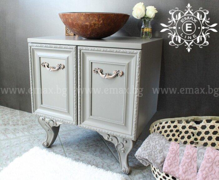 класически шкаф за баня с мивка купа
