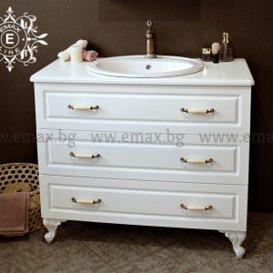 Хармония Лукс 1 – водоустойчив ПВЦ шкаф за баня 100 см с чекмеджета