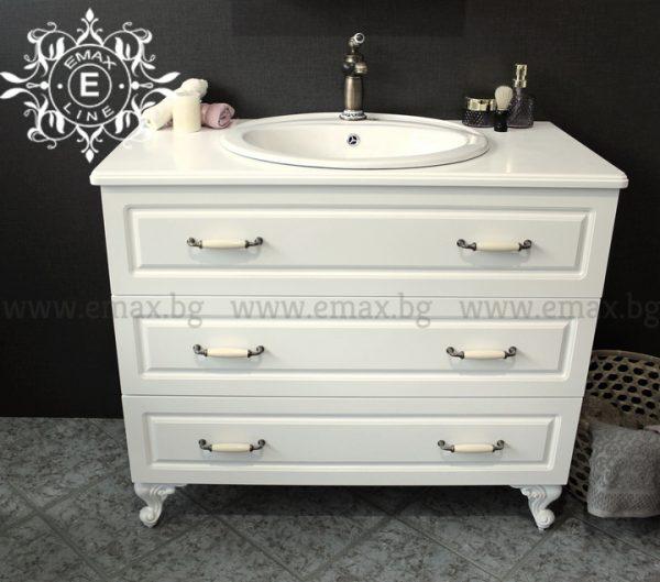 шкаф мивка за баня 100 см